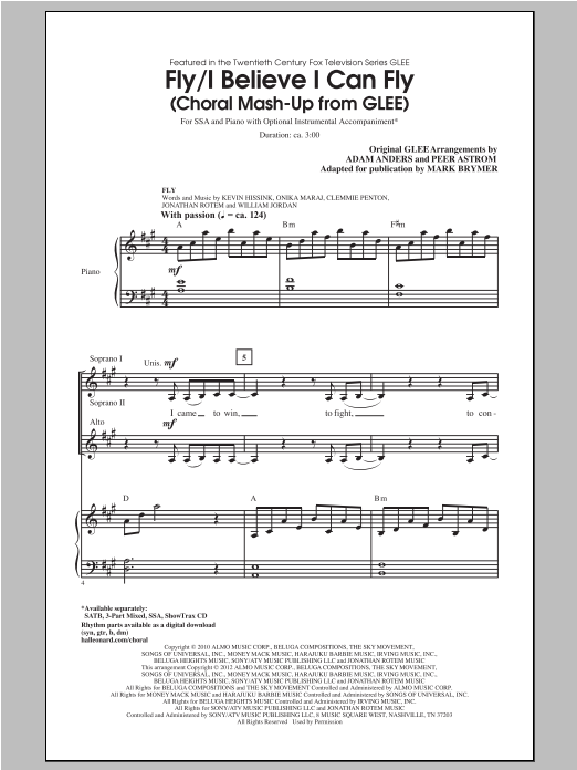 I Believe I Can Fly (arr. Mark Brymer) Sheet Music