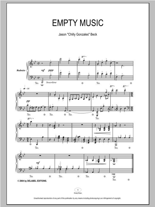 Empty Music (Piano Solo)