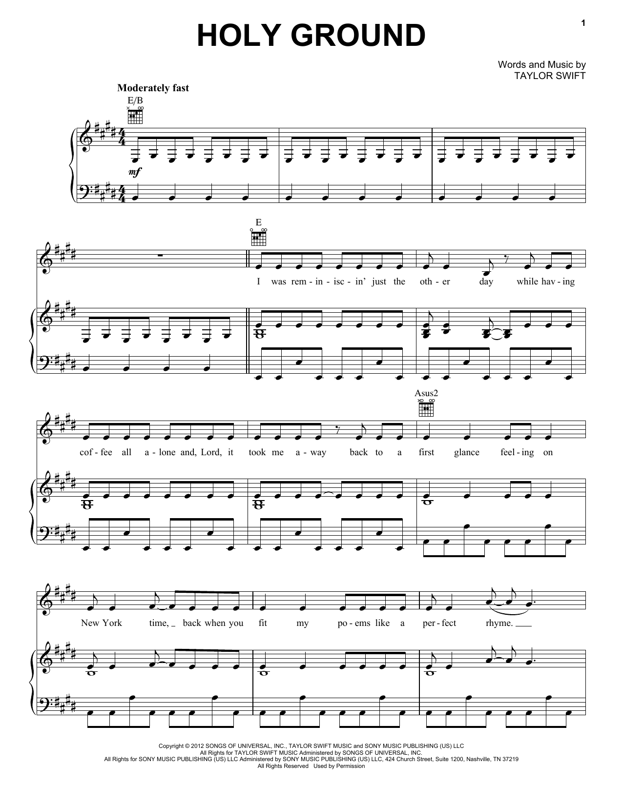 Holy Ground Sheet Music
