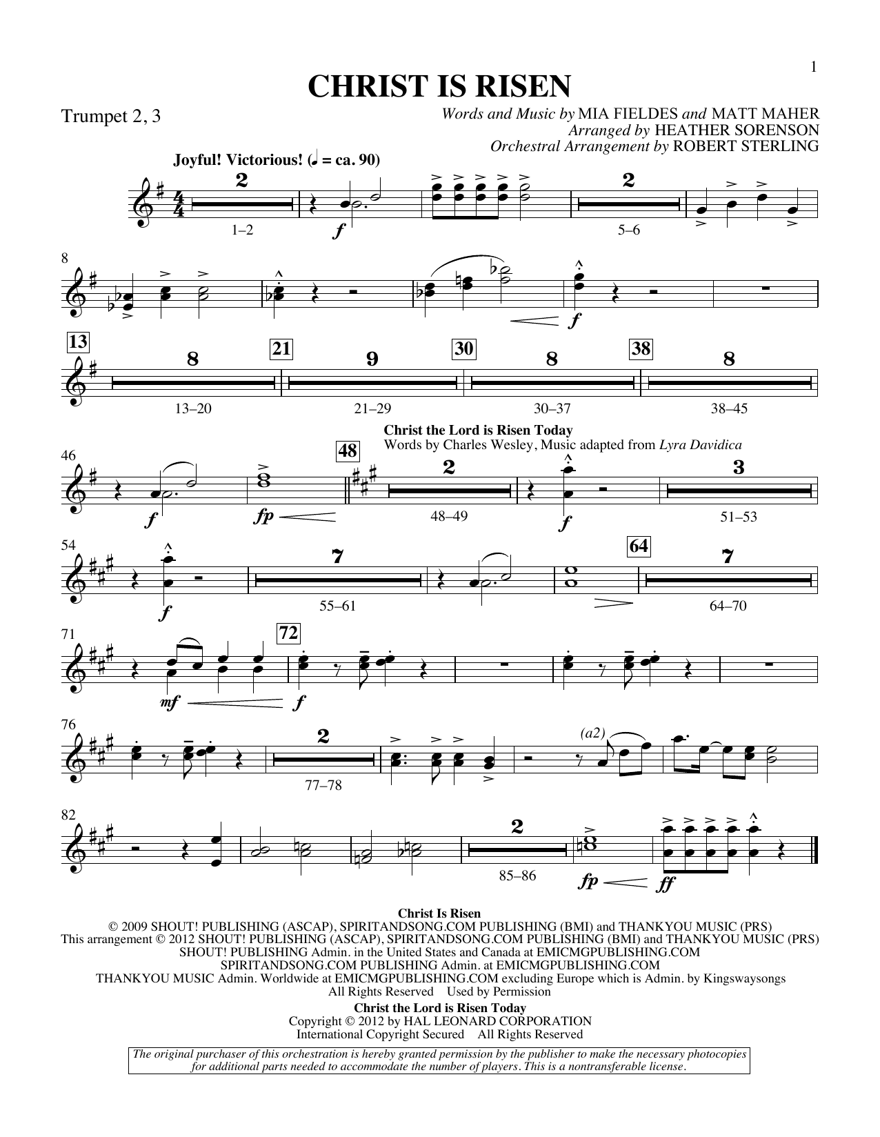 The Beautiful Christ (An Easter Celebration Of Grace) - Bb Trumpet 2,3 Sheet Music