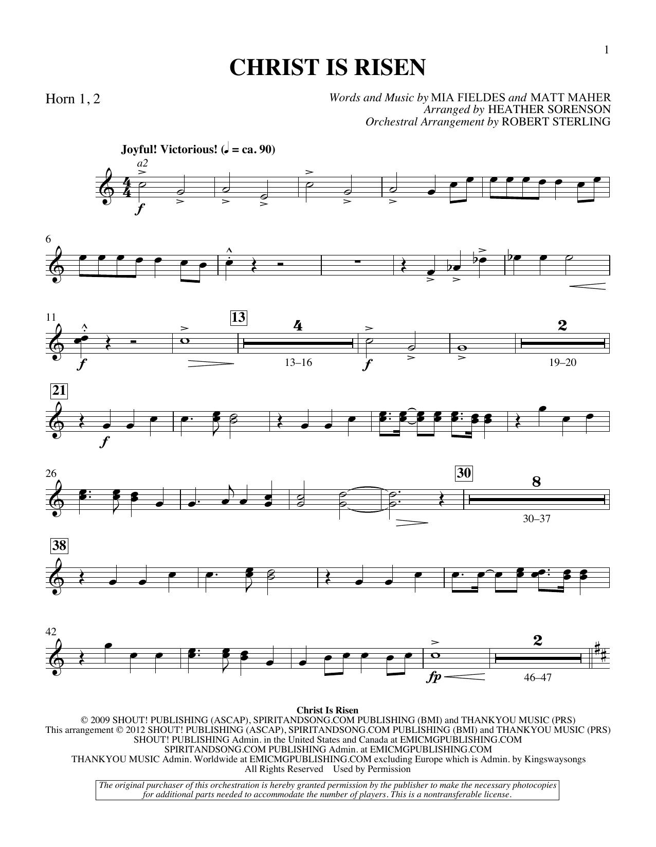 The Beautiful Christ (An Easter Celebration Of Grace) - F Horn 1,2 Sheet Music