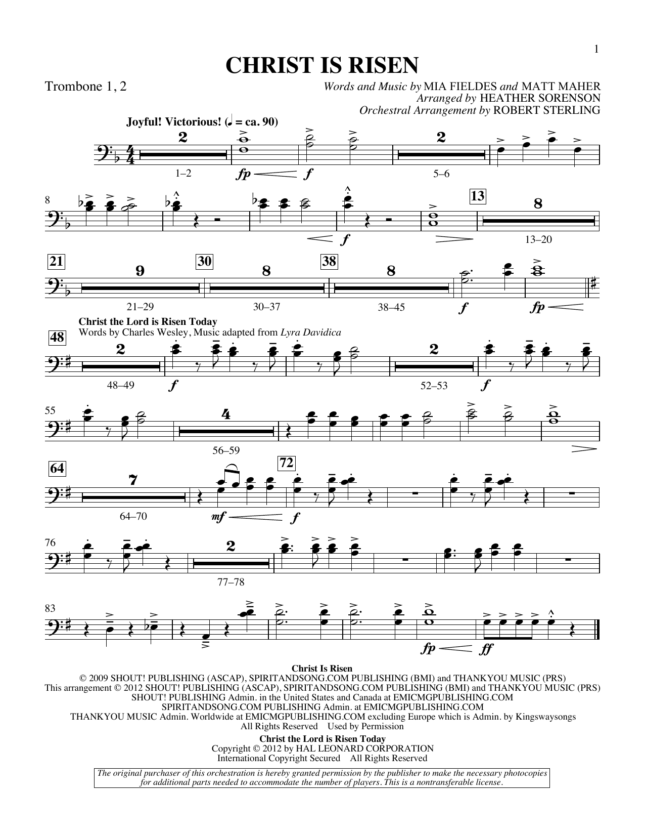 The Beautiful Christ (An Easter Celebration Of Grace) - Trombone 1 & 2 Sheet Music