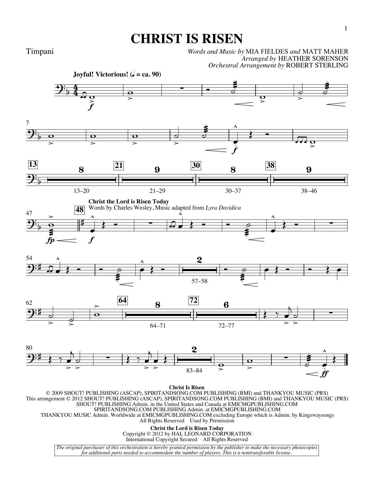 The Beautiful Christ (An Easter Celebration Of Grace) - Timpani Sheet Music