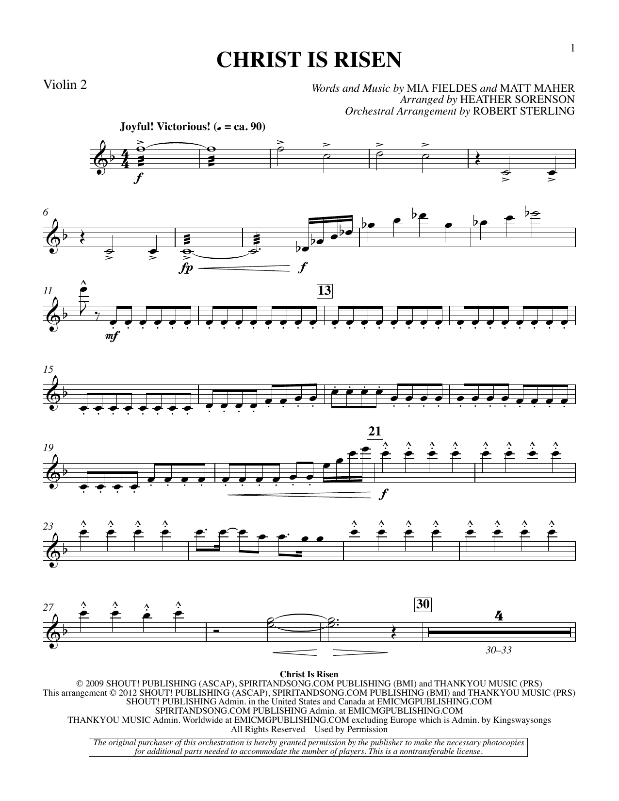 The Beautiful Christ (An Easter Celebration Of Grace) - Violin 2 Sheet Music
