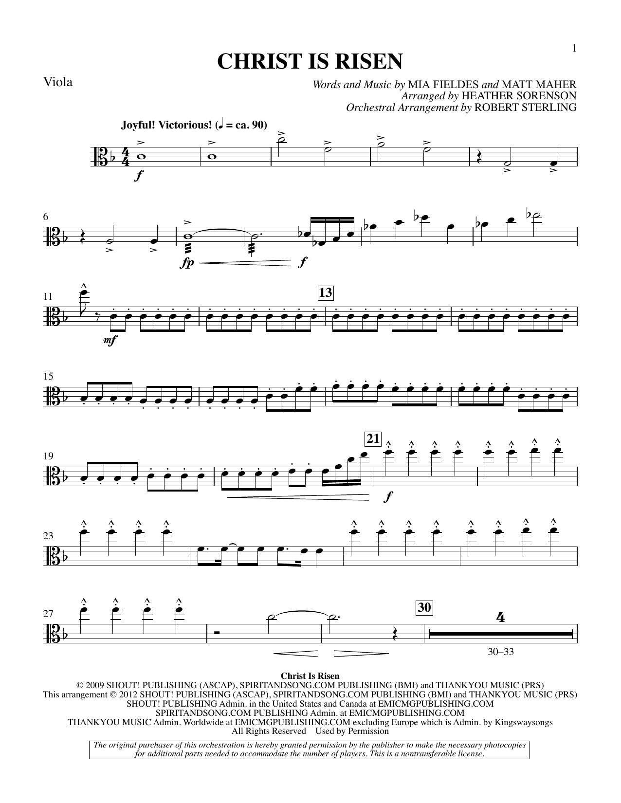The Beautiful Christ (An Easter Celebration Of Grace) - Viola Sheet Music