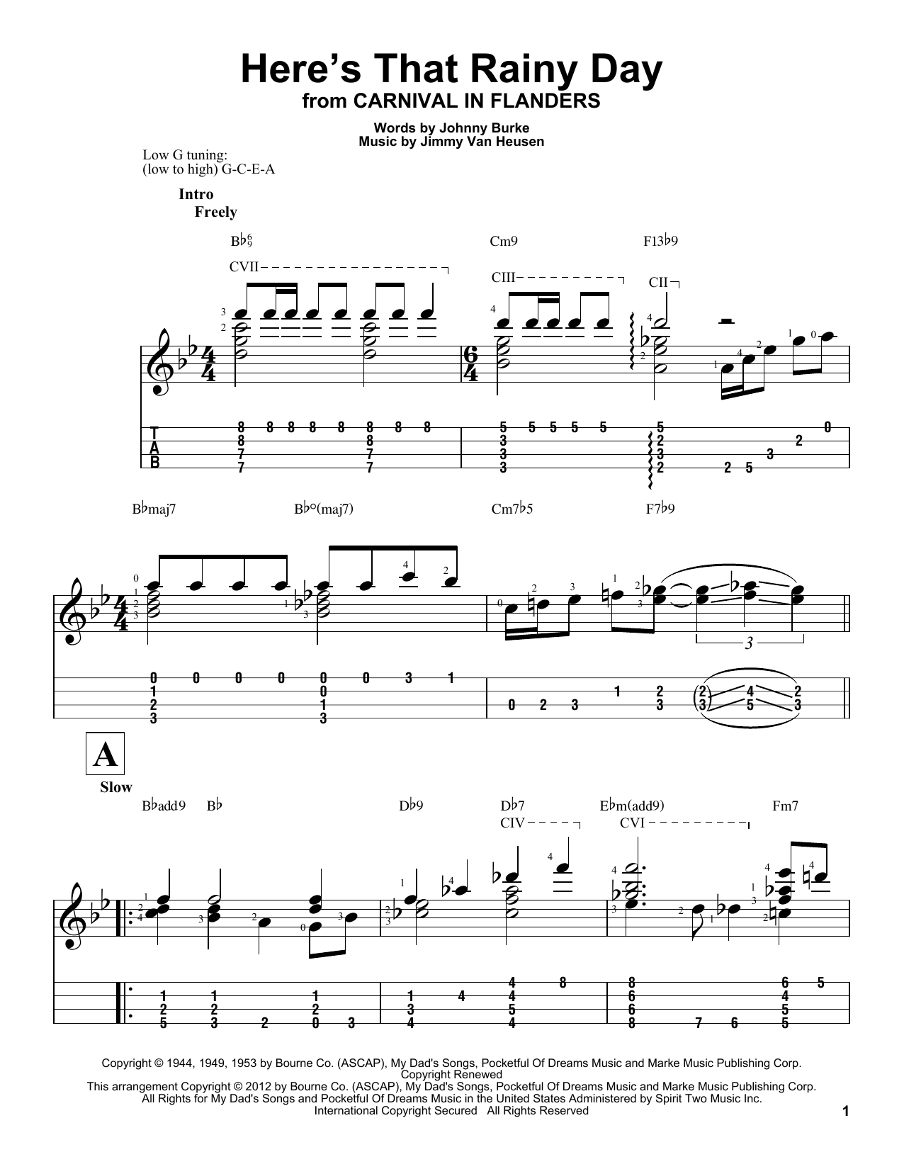 Here's That Rainy Day Sheet Music