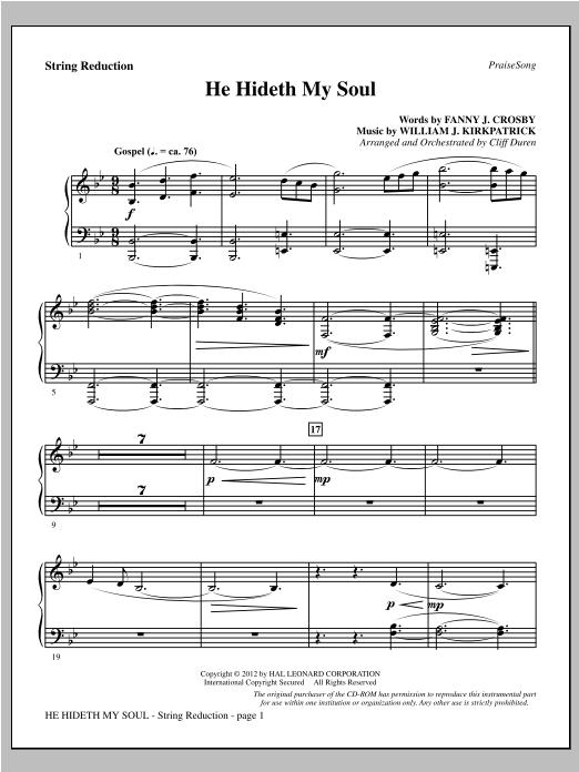 He Hideth My Soul - Keyboard String Reduction Sheet Music