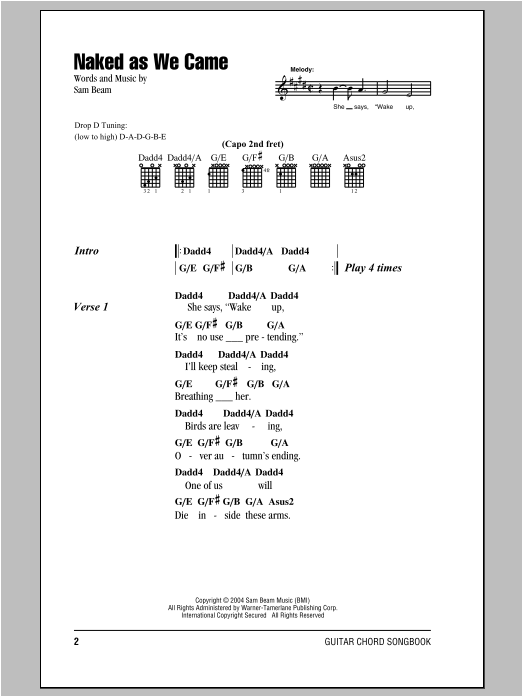 Naked As We Came Sheet Music Direct
