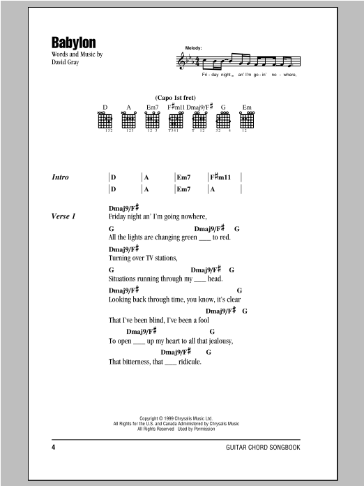Babylon Sheet Music Direct