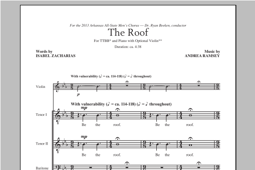 The Roof Sheet Music