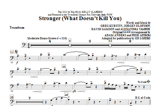 Stronger (What Doesn't Kill You) - Trombone Sheet Music