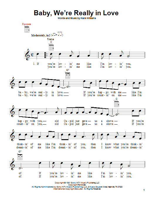 Baby, We're Really In Love Sheet Music