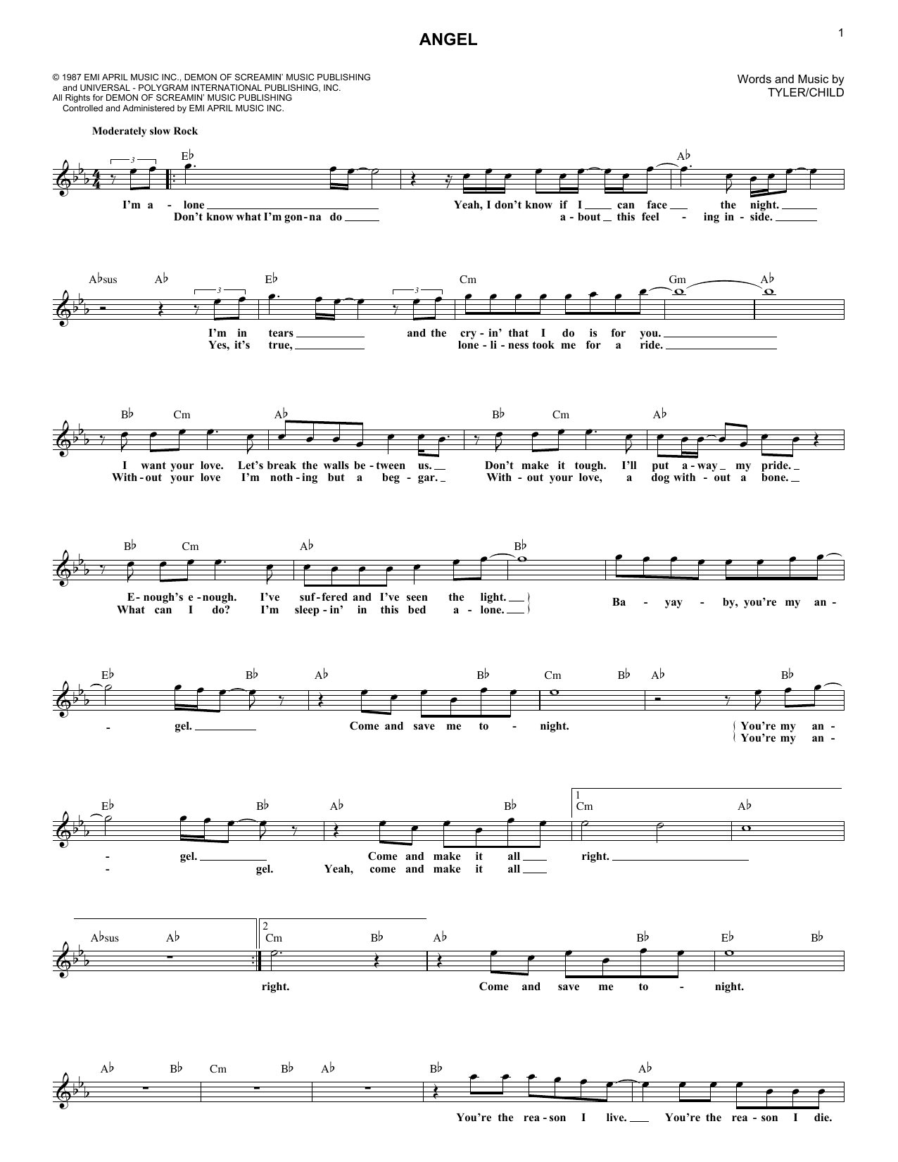 Angel (Lead Sheet / Fake Book)