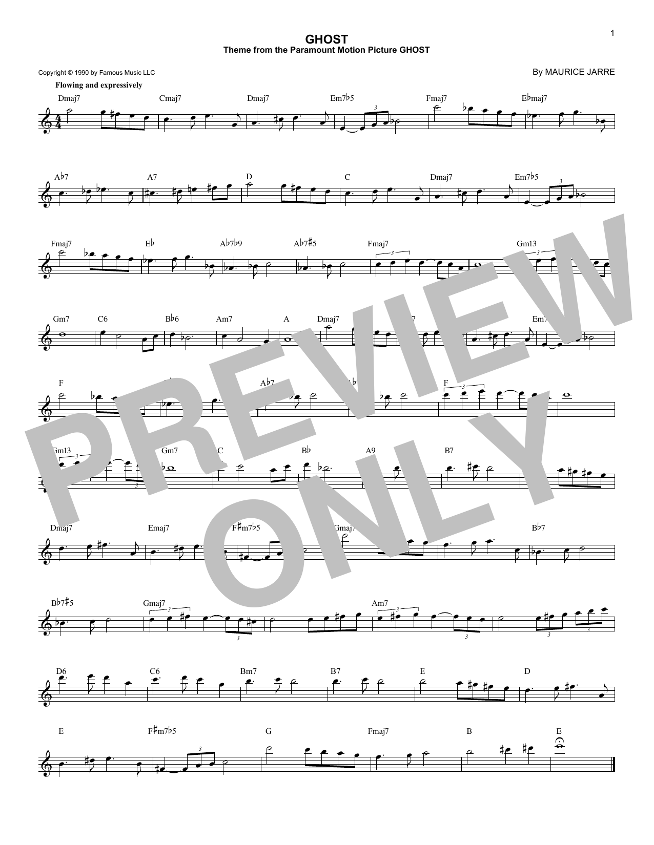 Ghost Sheet Music