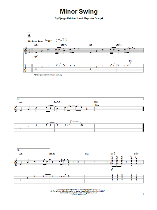 Minor Swing Sheet Music