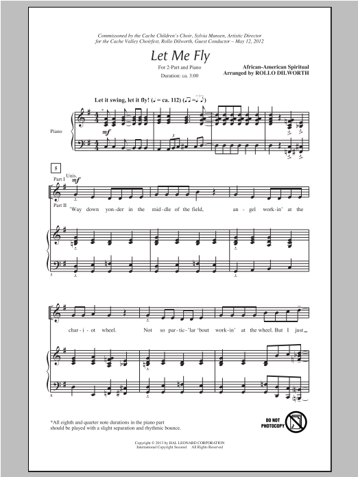 Let Me Fly Sheet Music