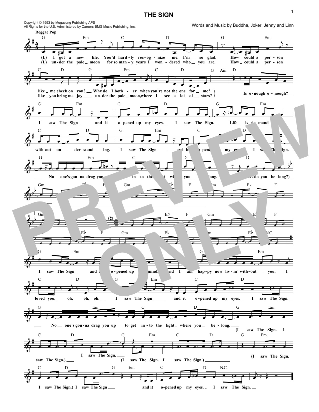 The Sign Sheet Music