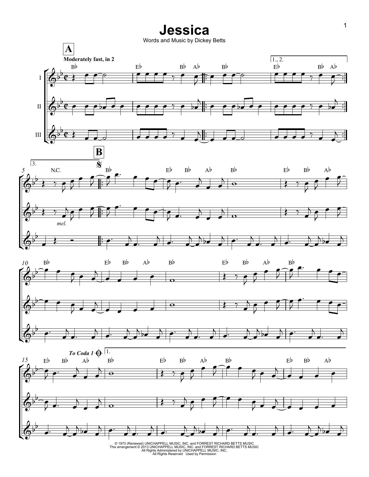 Jessica (Ukulele Ensemble)