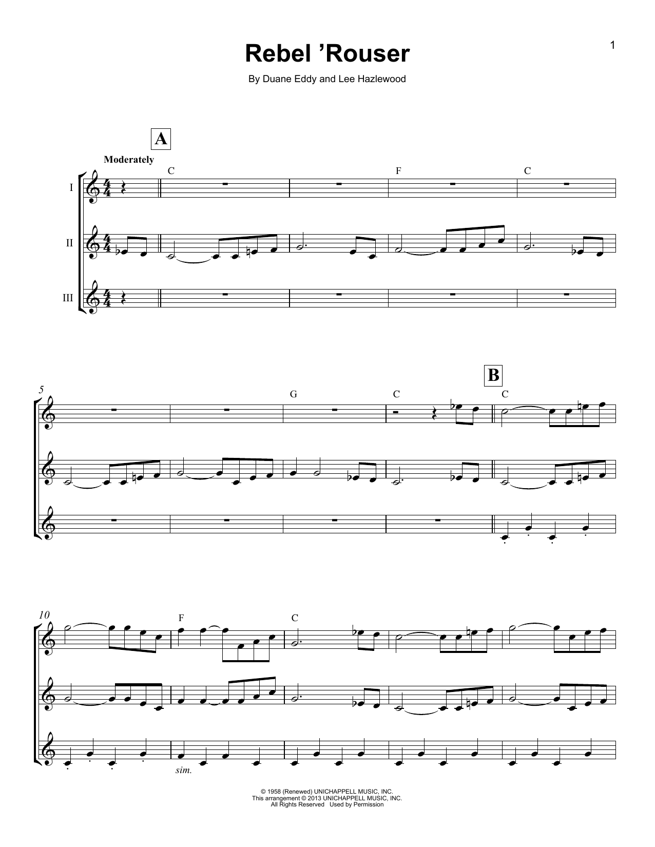 Rebel 'Rouser (Ukulele Ensemble)