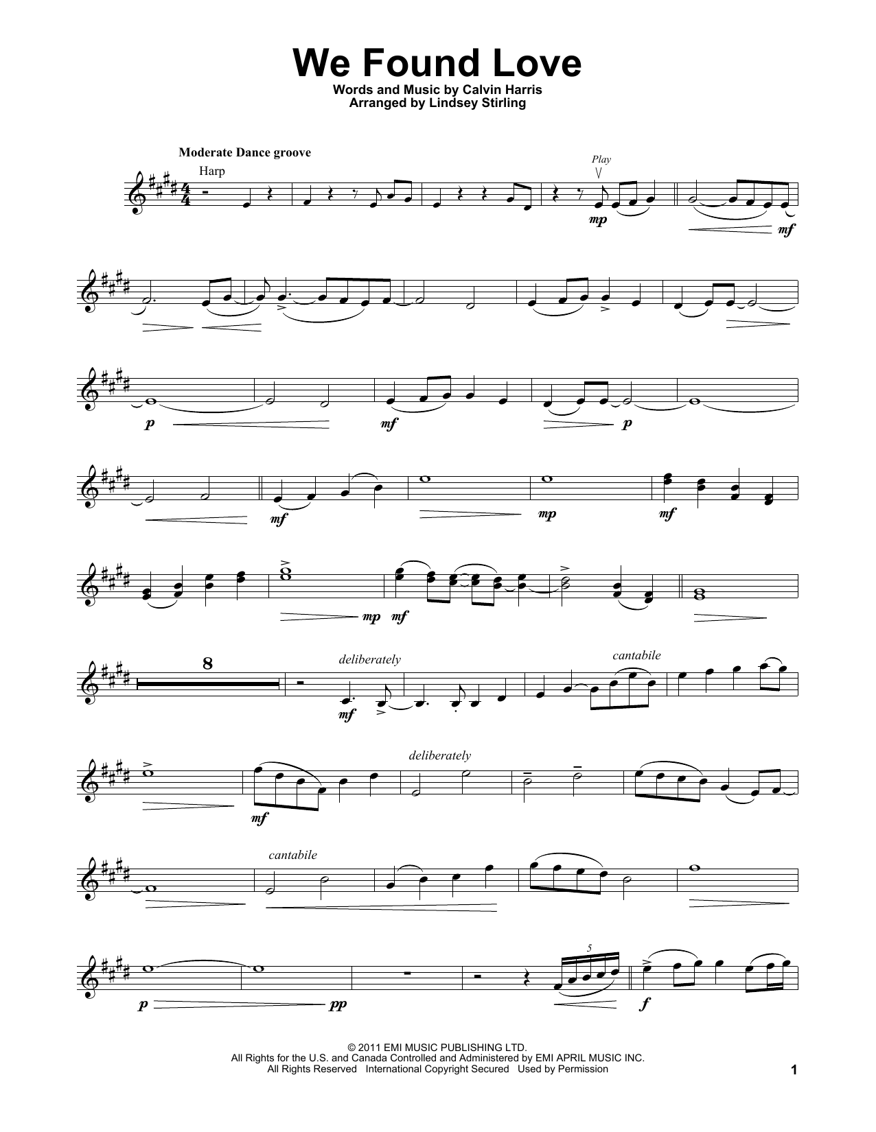 We Found Love (Violin Solo)