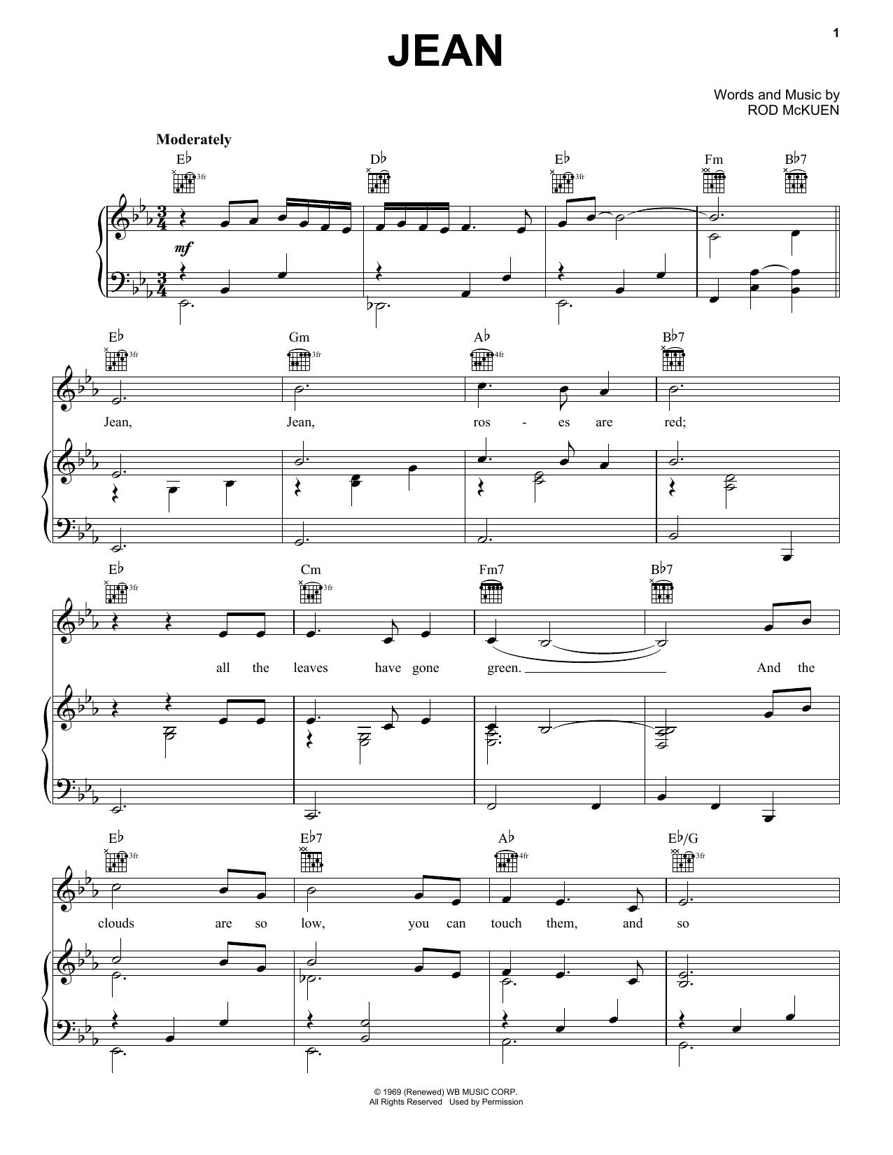 Jean Sheet Music