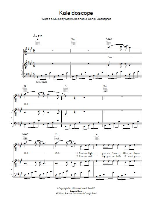 Kaleidoscope (Piano, Vocal & Guitar)