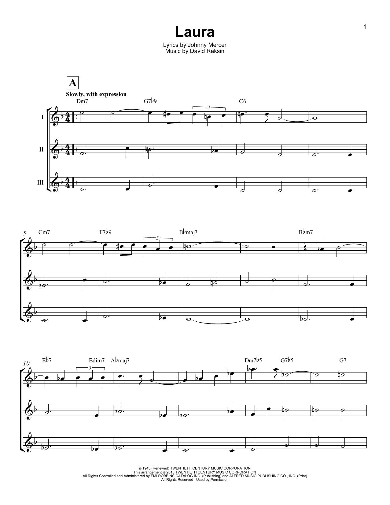 Laura (Ukulele Ensemble)