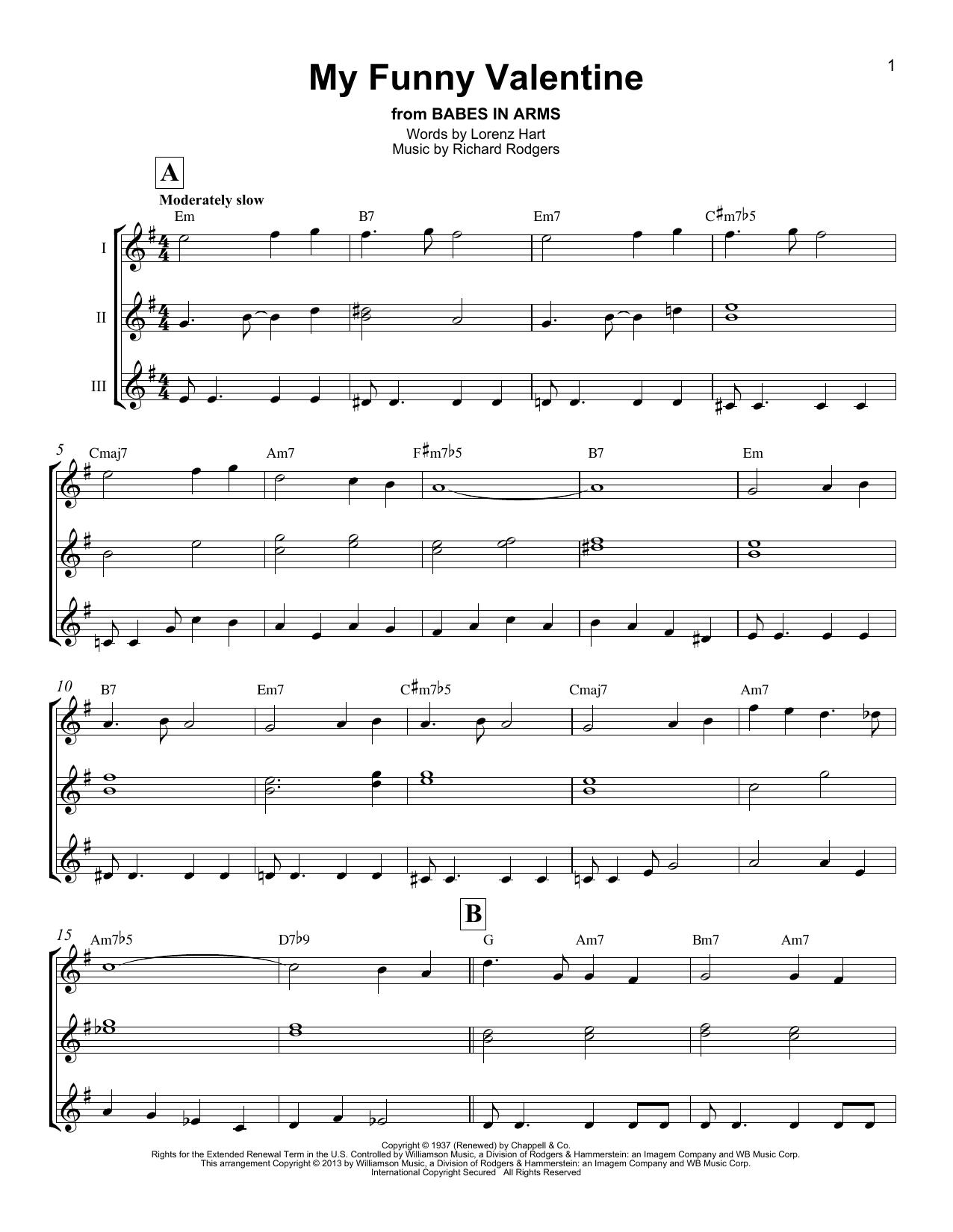 My Funny Valentine (Ukulele Ensemble)