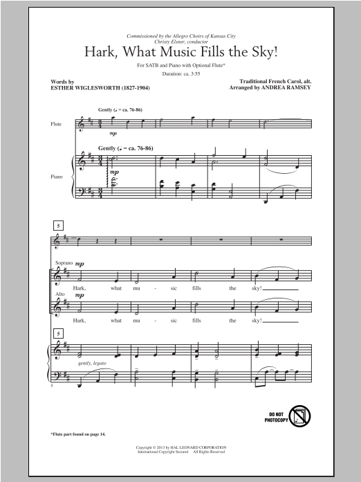 Hark, What Music Fills The Sky (arr. Andrea Ramsey) Sheet Music