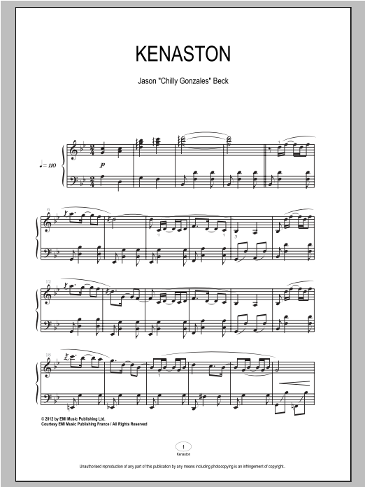 Kenaston Sheet Music