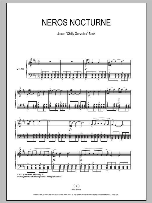 Neros Nocturne Sheet Music