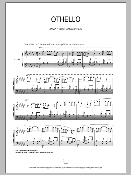 Othello Sheet Music