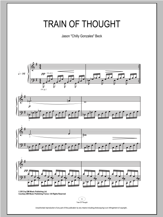 Train Of Thought Sheet Music