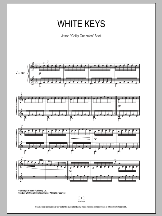 White Keys Sheet Music