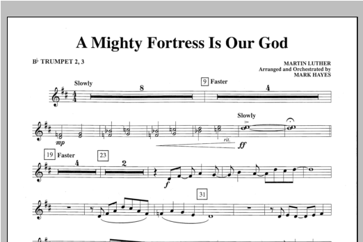 A Mighty Fortress Is Our God - Bb Trumpet 2,3 Sheet Music