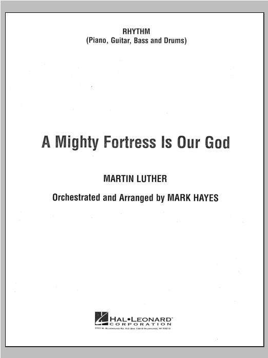 A Mighty Fortress Is Our God - Rhythm Sheet Music