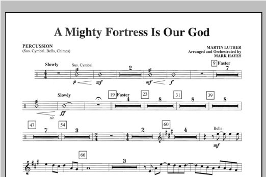A Mighty Fortress Is Our God - Percussion Partition Digitale