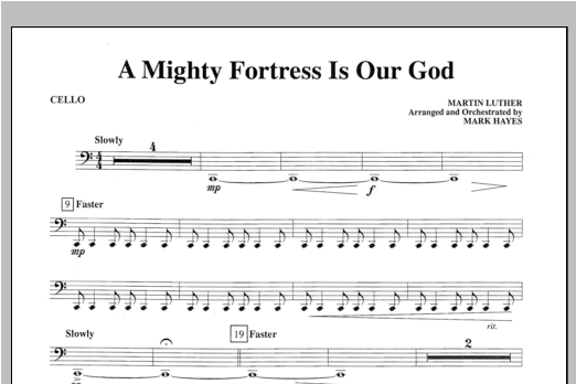 A Mighty Fortress Is Our God - Cello Sheet Music