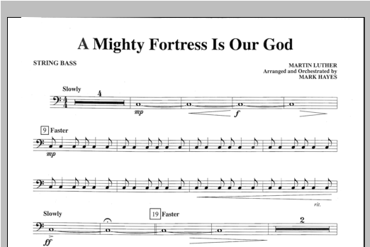A Mighty Fortress Is Our God - String Bass Sheet Music