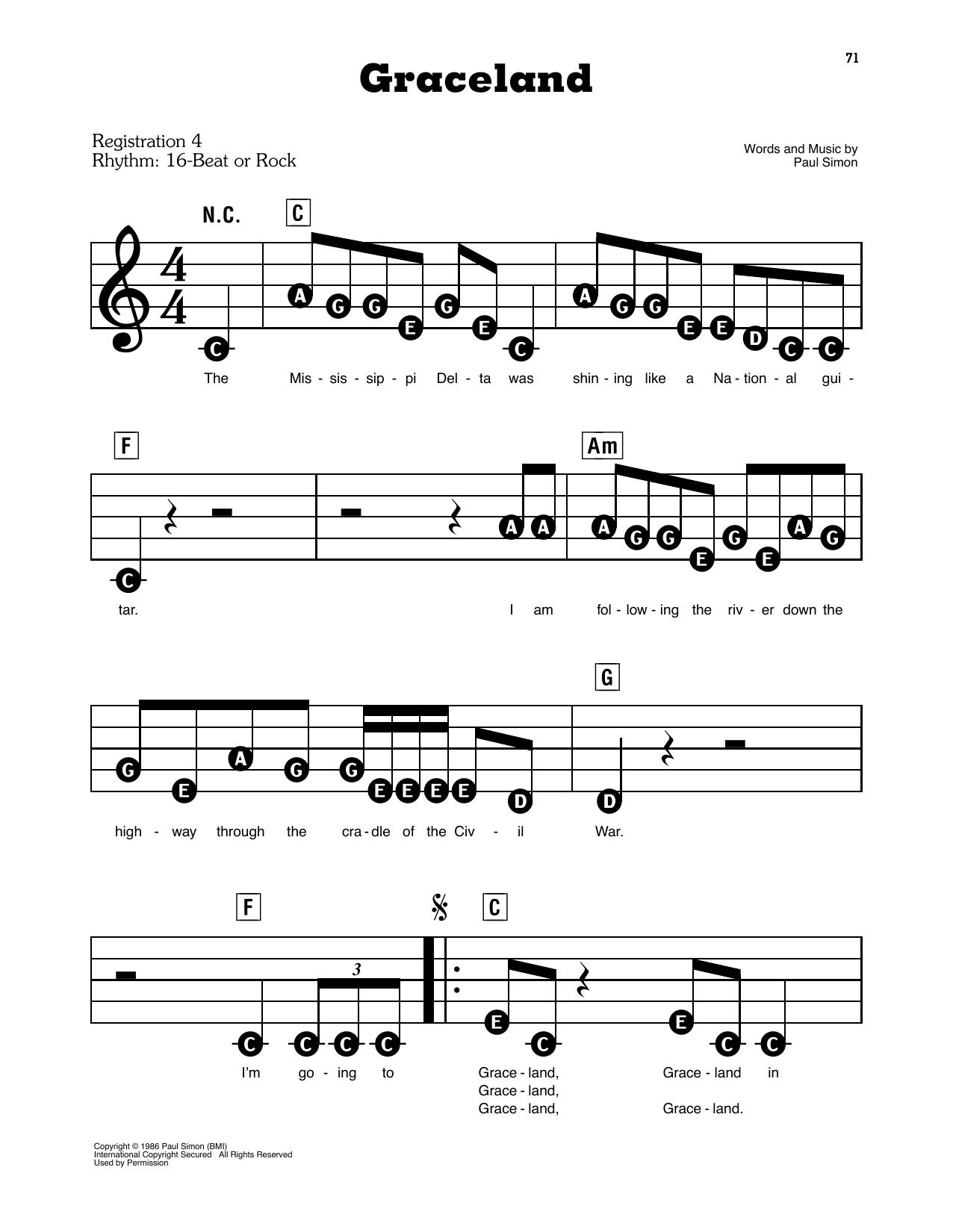 Graceland (E-Z Play Today)