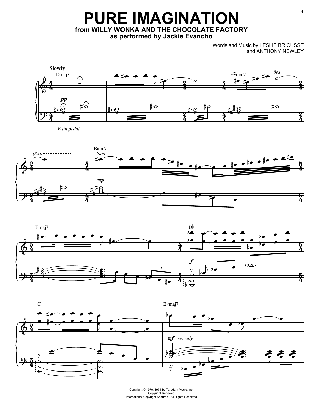 Pure Imagination (Piano & Vocal)