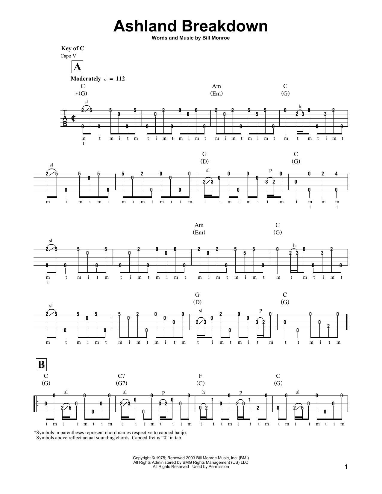 Ashland Breakdown Sheet Music