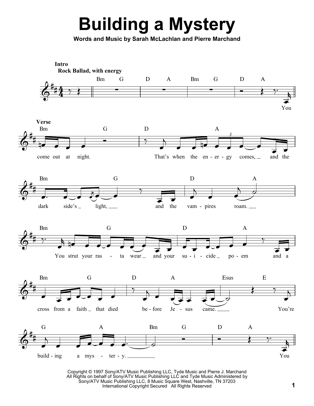 Building A Mystery Sheet Music