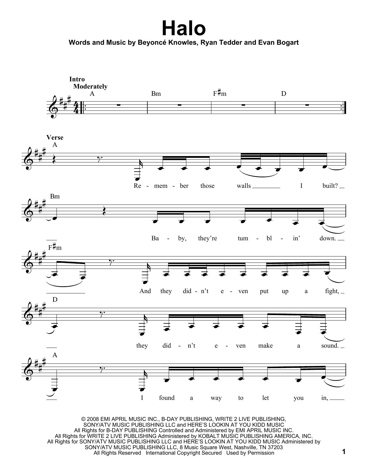 Halo Sheet Music