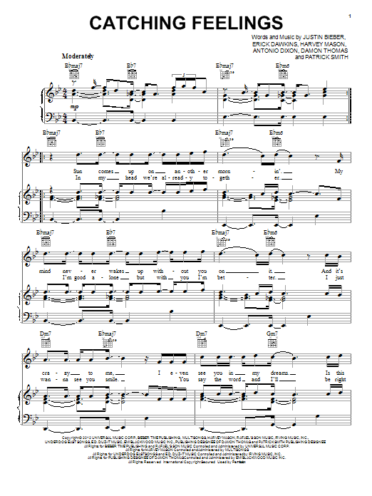 Catching Feelings Sheet Music