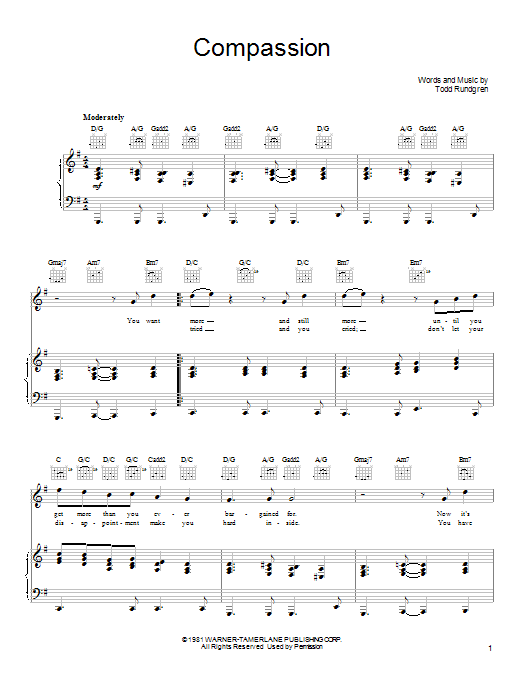 Compassion Sheet Music