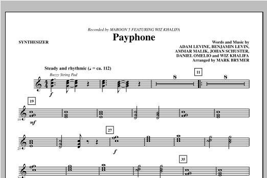 Payphone - Synthesizer Sheet Music