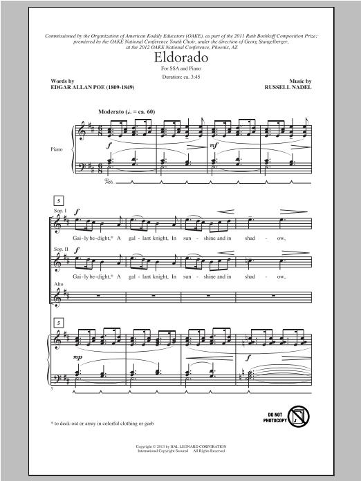 Eldorado Sheet Music