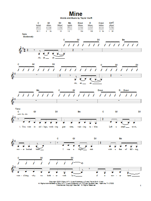 Mine Sheet Music