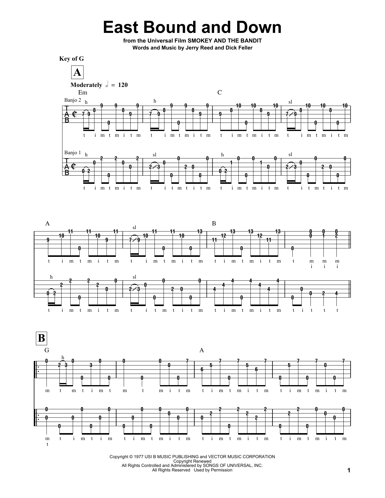 East Bound And Down Sheet Music